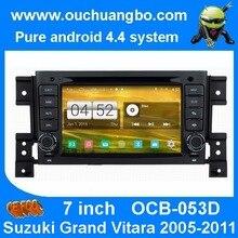 Ouchuangbo s160 de navegación estéreo del coche dvd gps para grand vitara 2005-2011 con usb wifi bt 1024*600 pantalla capacitiva android 4.4