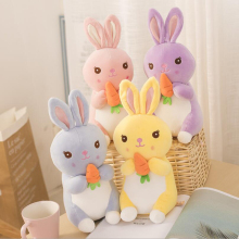 Lovely Cartoon Carrot Rabbit Plush Toy Stuffed Animal Doll Creative Gift Send to Children & Kids