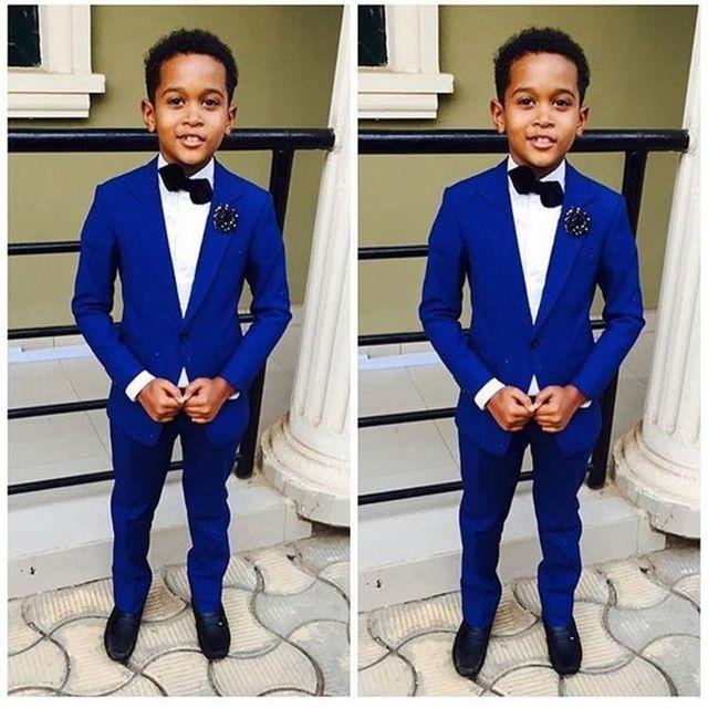 50e631a35 Royal Blue Formal Para Niños de Flor de La Boda Del Novio Esmoquin  Muchachos Niños Trajes