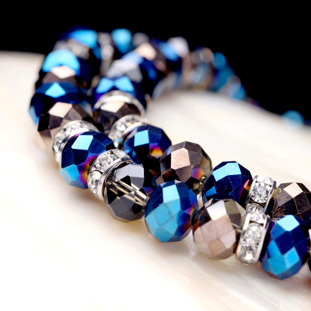 Double-Layer Glass Beaded Necklace