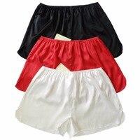 3pcs 100 Silk Women S Boyshorts Panties SIZE S M L XL XXL Solid And