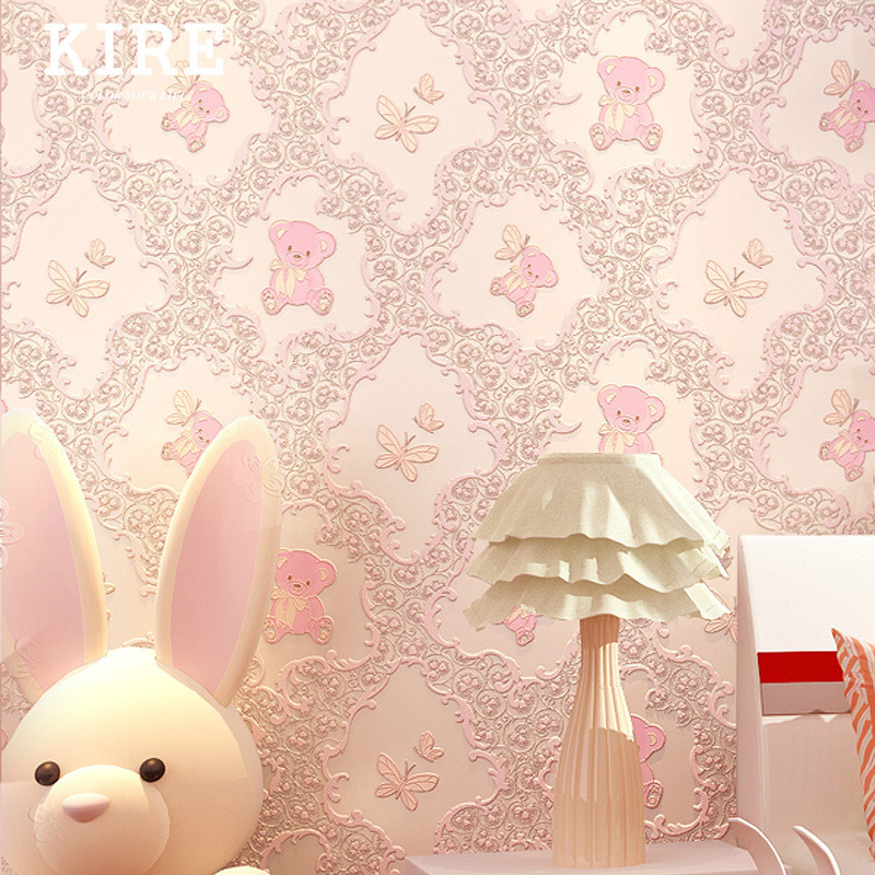 Cute Teddy Bear Peel And Stick Wallpaper Self Adhesive Wall Paper