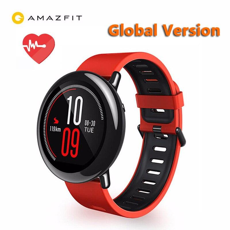 Originaal Xiaomi Huami Watch AMAZFIT Pace GPS töötab Bluetooth 4.0 Sports Smart Watch pulsikellaga CE puutetundliku ekraaniga globaalne