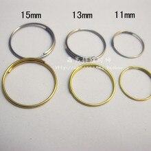 1000 шт., диаметр 11 мм, 12 мм, 13 мм, 15 мм, нержавеющая сталь 201 металлическое кольцо, хрустальная люстра, гирлянда кольцо, медведь металлический Конн