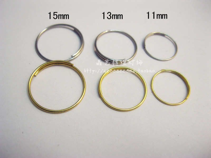 1000PCS,  Dia11mm, 12mm, 13mm 15mm , Stainless Steel 201 Connection Metal Ring, Chandelier Crystal Garland Ring, Bear Metal Conn