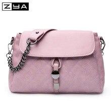 ZYA Women Pu Leather Handbags Messenger Bags Fashion Bow Big Flap Shoulder Bag Ladies Mini Crossbody Bags Female Daily Clutches