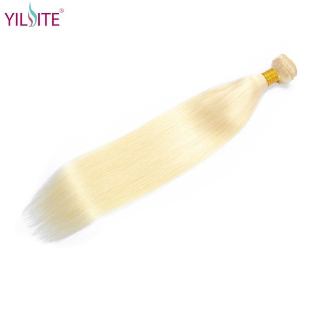 YILITE 613 Rubia de cabello humano paquetes 1 piezas miel rubia paquetes Remy malayo Remy extensión del pelo 100% de la armadura del pelo humano