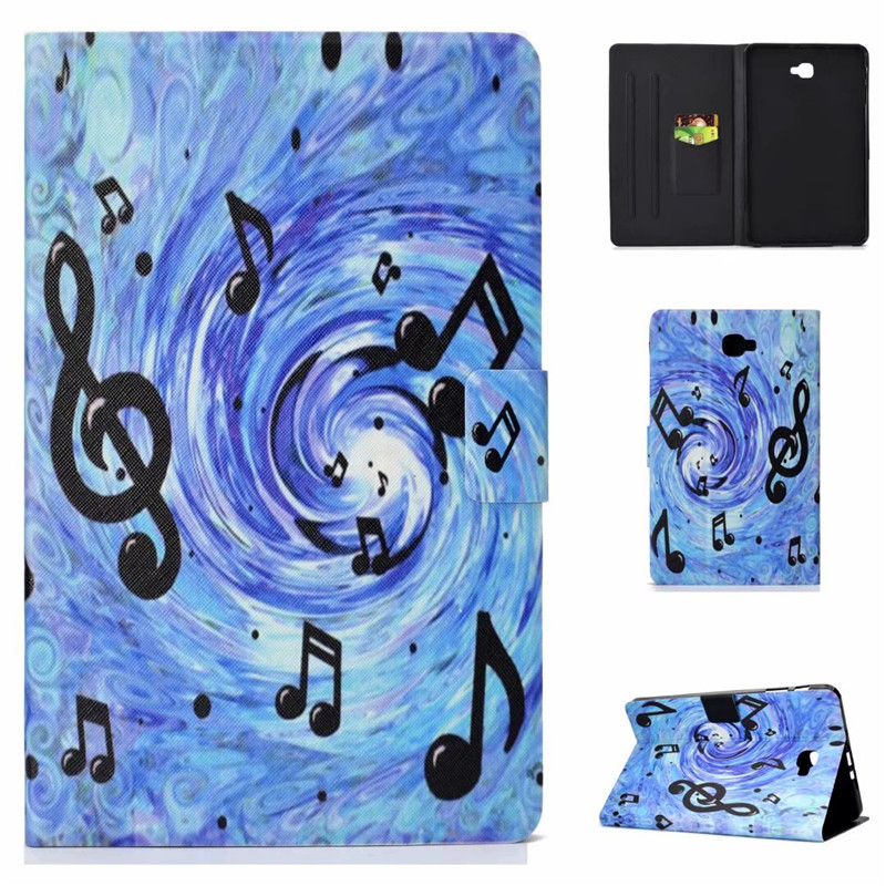 Voor Samsung Galaxy Tab A6 2016 10.1 SM-T580 T585 Case PU Leather Cover Stand Smart case voor EEN