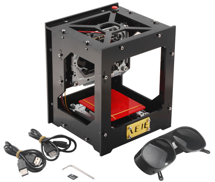 New 1000mW DIY USB Laser Engraver Printer Cutter Engraving Machine NEJE DK-8-KZ DIY Laser Carving Machine w/ Protective Glasses dk bl 1500mw laser power diy laser engraving machine desktop art laser engraver printer bluetooth 4 0 6000mah