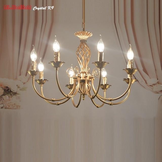 Amerikanischen Bronze Kronleuchter Moderne Antiken Kronleuchter Lingting  Luxuriöse Messing Farbe Lampe Lustre Suspension Leuchten Schmiedeeisen