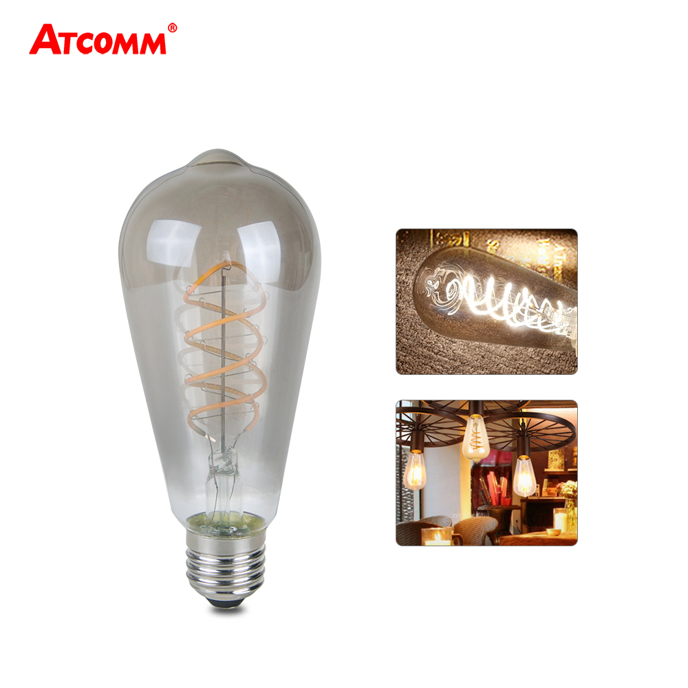 Edison Lampe Led Us 7 5 20 Off Ampoule Led E27 3w 85 265v Dimmable Incandescent Bulbs St64 E27 Led Vintage Antique Retro Edison Bombillas Lampada In Incandescent