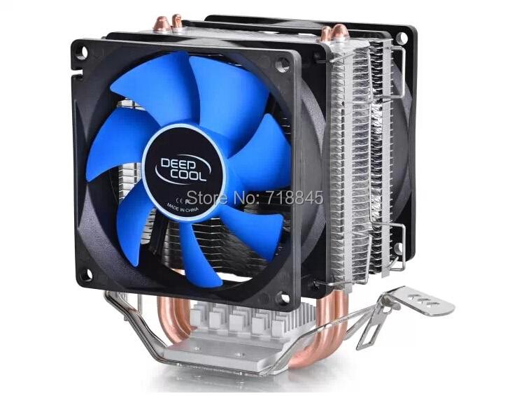 Two 8cm fan 2 heatpipes,tower side-blown,Intel LGA775/1155/1156,AMD 754/939AM2/AM2+/AM3 FM1/FM2, cpu radiator,CPU FAN,CPU cooler процессор other intel 775 pd 820 2 8 2m 800 cpu