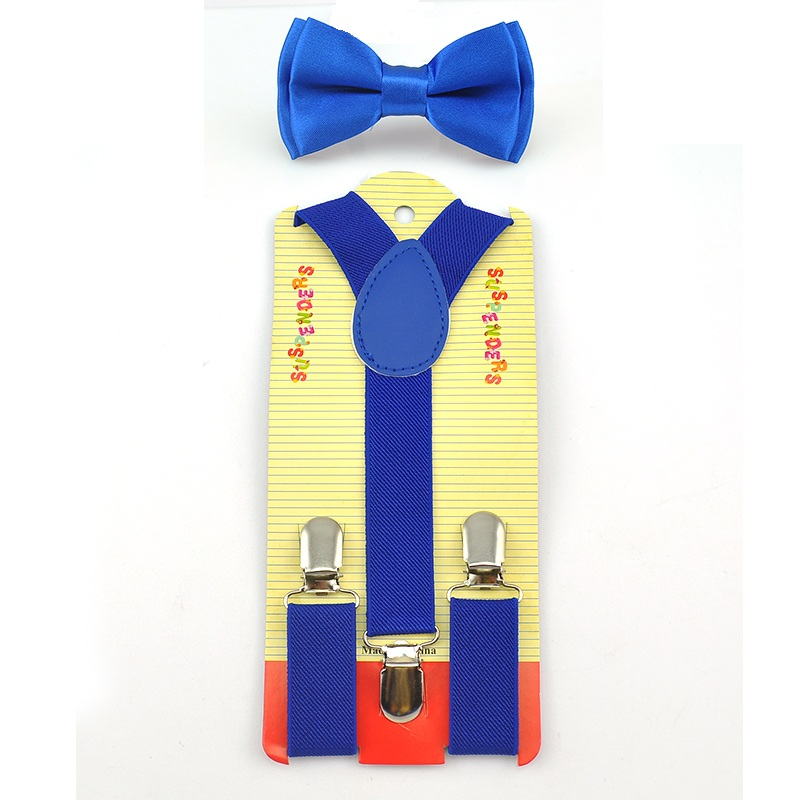 Free Shipping 2016 Royal Blue Kids Boy Girls Suspenders With Adjustable Elastic Braces Children Clothing Accessories 22 Colors