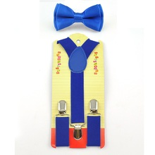 цена на Free Shipping 2016 Royal Blue Kids Boy Girls Suspenders with Adjustable Elastic Braces Children Clothing Accessories 22 colors