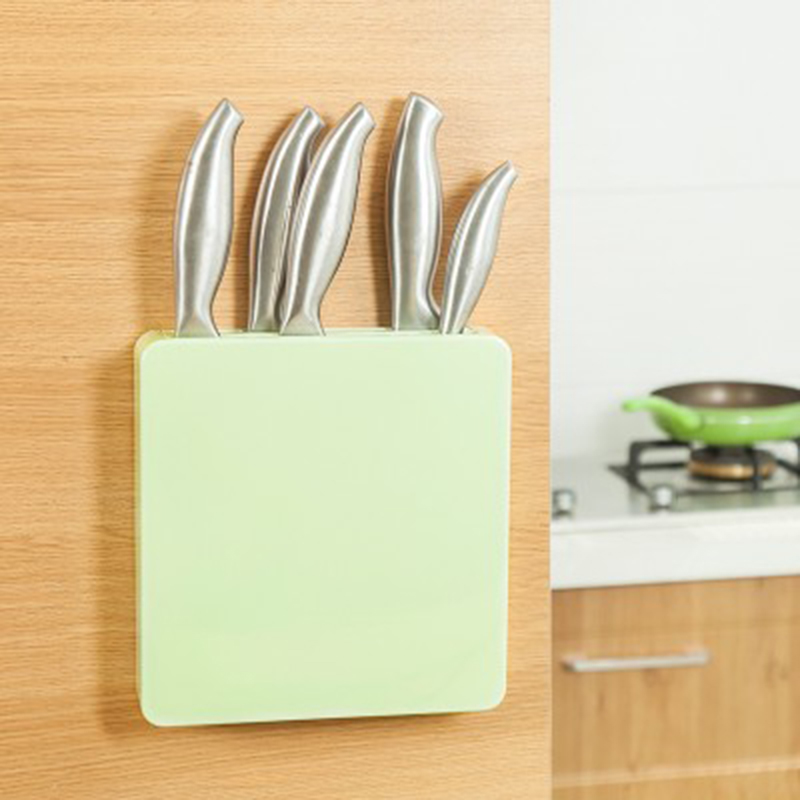 Kitchen Wall Mounted Pantry Storage Rack Organizer Knife Scissor Slot Holder Shelf, Knife Block Plastic Storage Rack Stand Shelf