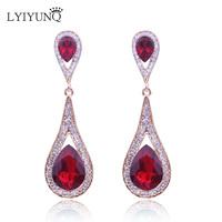 LYIYUNQ Europe and America Fashion Brand   Fine   Jewelry Vintage Long   Earrings   For Women Moon Rhinestone   Earring   Brincos