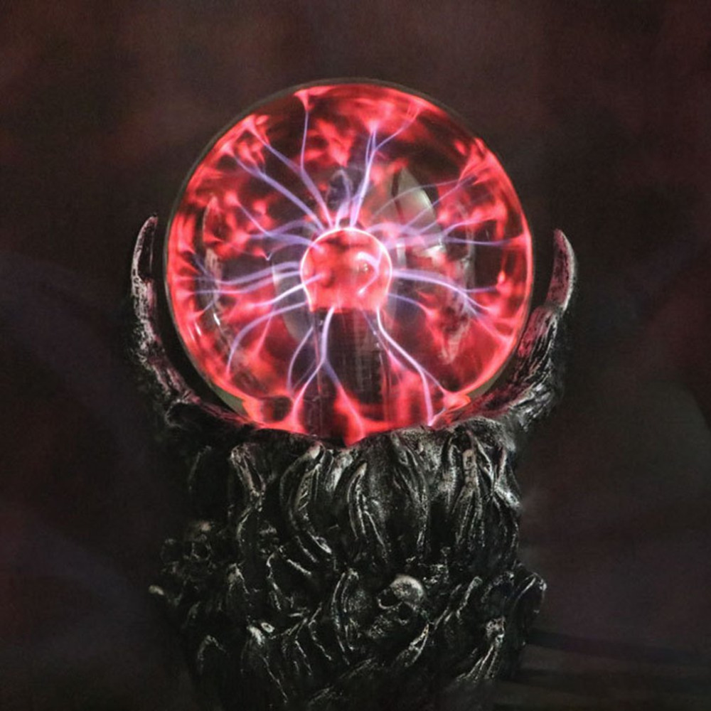 Creative Skeleton Hand Design Electrostatic Ion Magic Ball Touch Sensor Glass Light Ball Decoration Plasma Ball