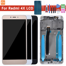 For Xiaomi Redmi 4X LCD Display with Frame Screen Touch Panel Redmi 4X LCD Display digitizer Frame Assembly Spare Repair Parts original lcd screen display touch panel digitizer with frame for huawei honor 4x black or gold free shipping