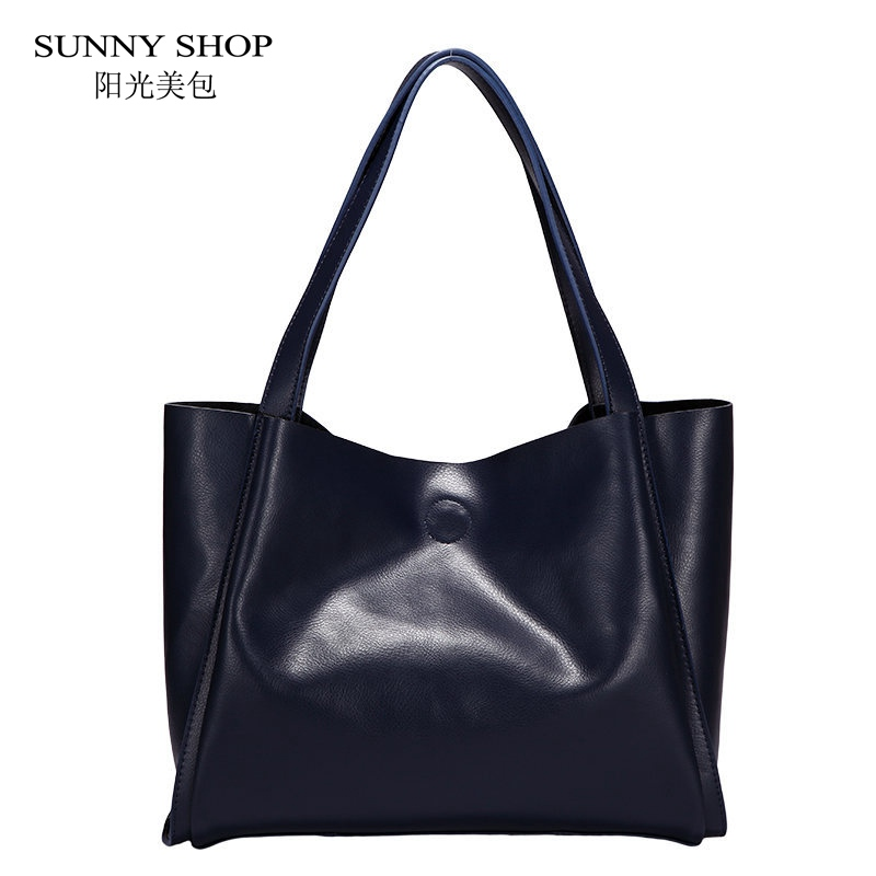 SUNNY SHOP Composite Bags 100% Genuine Leather Women Handbag European and American Fashion Geuine Leather Shoulder Bag composite structures design safety and innovation