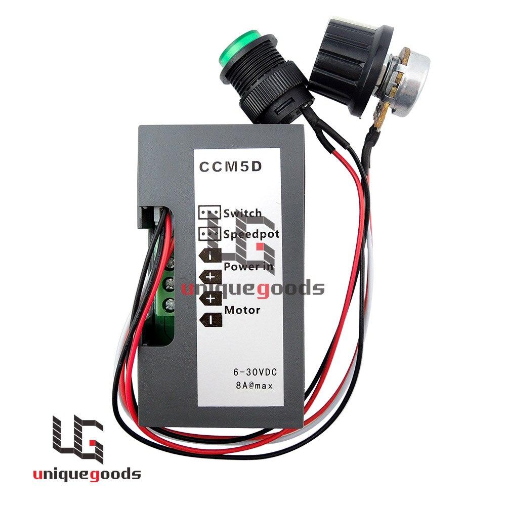 DC 12V 24V 6-30V CCM5D Max 8A PWM Motor Speed Controller Digital Display Switch