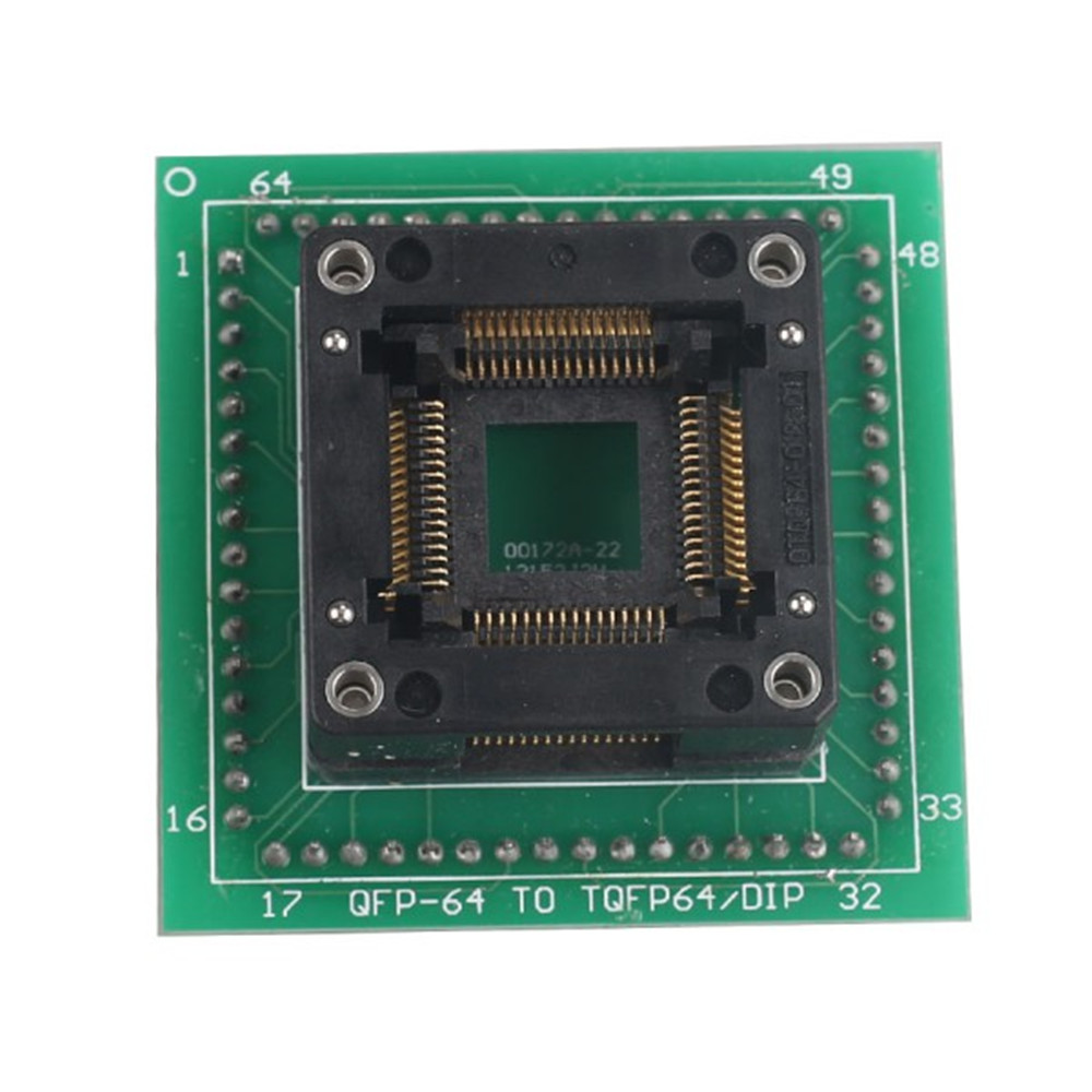 Prix pour HC05 HC08 QFP64 Adaptateur Utiliser pour ETL Programmeur et XPROG M Programmeur