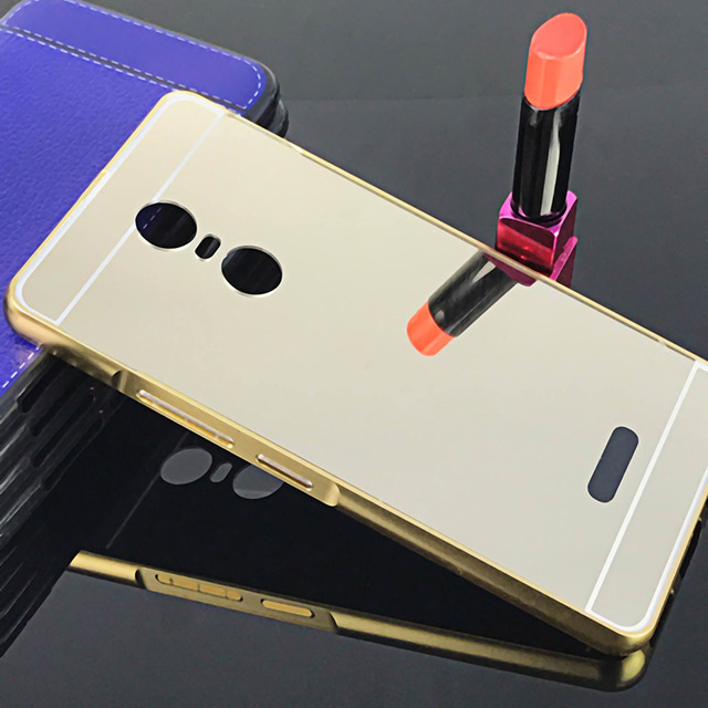 US $2 8 15% OFF|Gold Mirror Case For Lenovo K6 Note Metal Frame Back Cover  Funda For Lenovo K6 Note 5 5 inch Phone Cases+Free Gift-in Phone Bumper