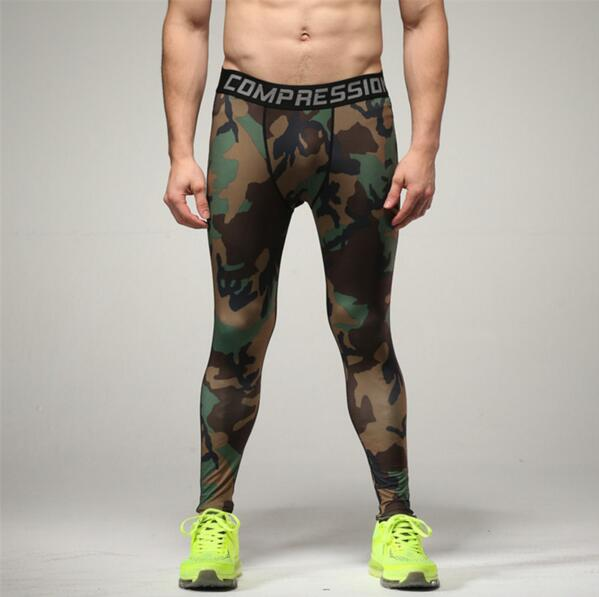 6e1d7e0843c7b Camouflage Men Compression Tights 2016 New Camo Pants Lycra Skinny Leggings  Clothing Pants Fitness Free shipping