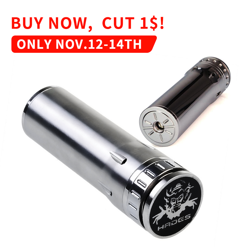 Mech Mod Hades 26650 Mod Full Mechanical Mod 510 Thread Stainless Steel Fast Shipping Electronic Cigarette Mods цена