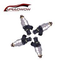 Speedwow 4Psc 1000cc Fuel Injector Low Impedance Fuel Spray Nozzle For Mustang Camaro LT1 LS1 LS6 96lb EV1