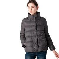 New Winter Women Ultra Light Down Jacket Stand Collar Coat Jackets Weightless Parkas Bread Collar Jacket Warmness XXL