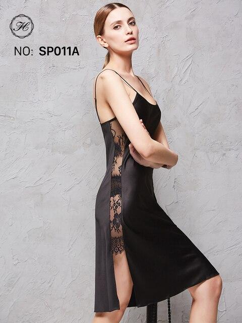 Damen Sexy Silk Satin Nachtkleid Ärmelloses Nachthemden V ausschnitt ...
