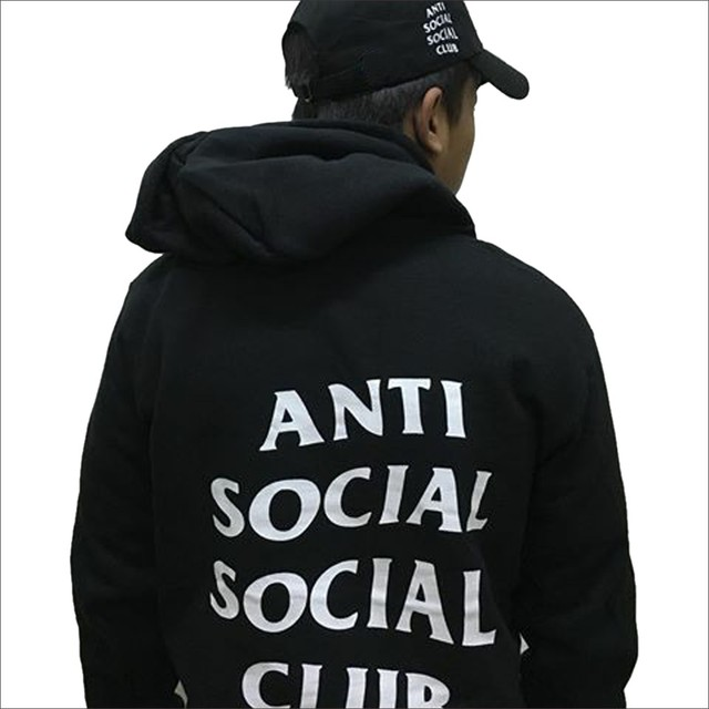 Anti Social Social Club ASSC Hooded Sweatshirt Men Hip Hop GD Kanye West Winter Hoodies Men Casual Fashion Casual Black Clothes