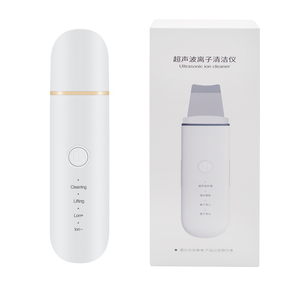 Ultrasonic Skin Scrubber Blackhead Remove Deep Face Cleaning Machine Facial Whitening Lifting Dirt Wrinkles Spots Reduce