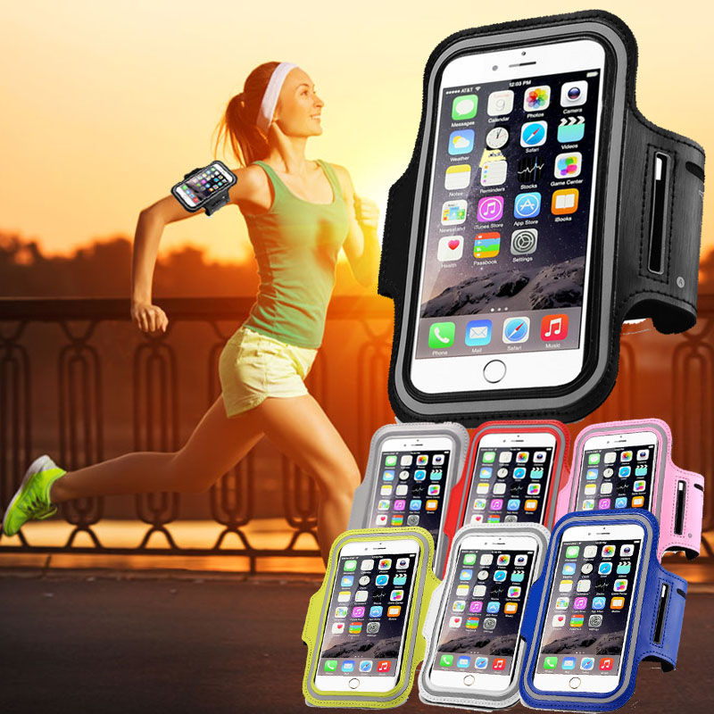 Running Sport Waterproof Phone Armband For Iphone 7 6 6s Plus Case For Samsung 4.7 5.7 Inch Universal Pu Mobile Phone Bag Shells Armbands Mobile Phone Accessories