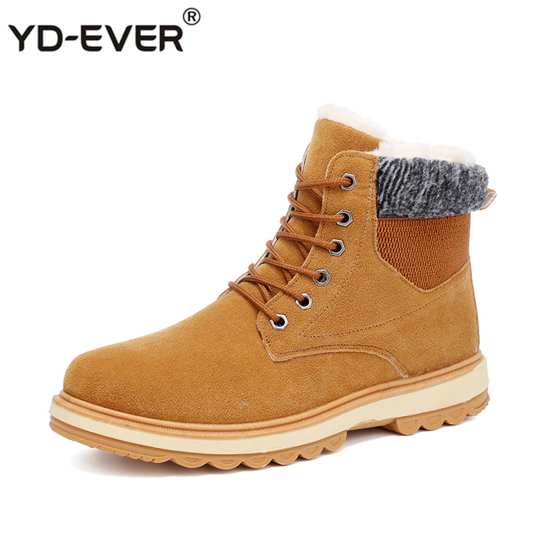 b39400040c67aa Boots black Occasionnel Mode Troupeau Bottes Pour 2019 Marque Chaude De D'hiver  Boots khaki Cheville Adulte Hommes ...