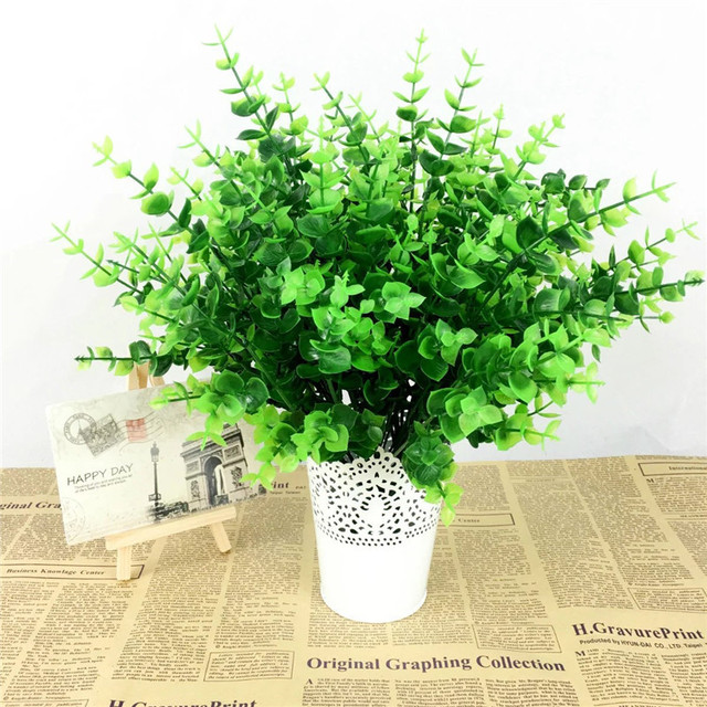 fake plant green leaves potted plant flowers office wedding room Artificial Plants for Office Decor