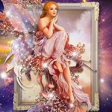 Ангел сделай сам рукоделие крестом мозаика алмазный картина алмаз вышивка живопись