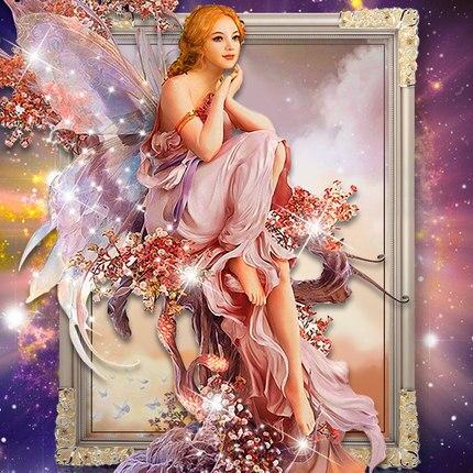 2016 5D СДЕЛАЙ САМ алмаз Живопись Алмаз вышивка Крестом ангел картина Украшения Дома 5D Рукоделие алмазный Мозаика