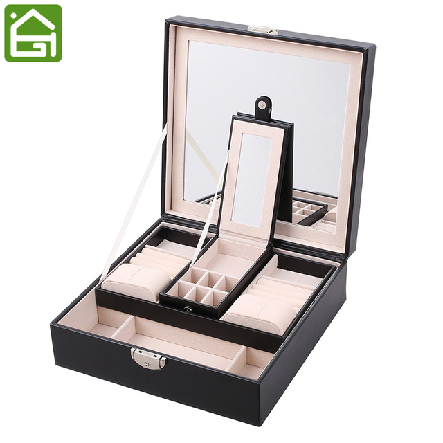 Extra Large Leather Jewelry Organizer Romantic Gifts Casket Travel