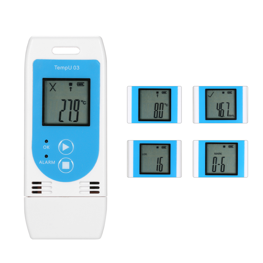 USB thermometer Temperature Humidity Data Logger Reusable RH TEMP Datalogger Recorder Humiture Recording Meter Record Capacity
