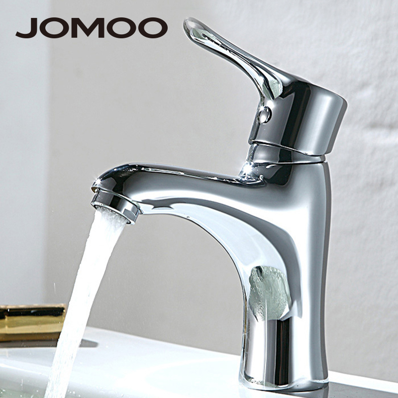 JOMOO Bathroom Basin Faucet Single Handle Sink Faucet Water Tap Bathroom Faucet Solid Brass Chrome Deck Mounted Basin Mixer micoe hot and cold water basin faucet mixer single handle single hole modern style chrome tap square multi function m hc203