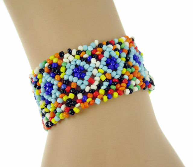 Nepal Handmade Bead Bracelet Hippy Friendship Por Roll Crochet Woven Seed Beads Colorful Bracelets For Women