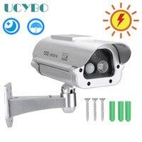 Solar Powered Fake Camera Dummy CCTV Security outdoor W/Flash LED Lights Human Sensor Detector surveillance dummy decoy camera