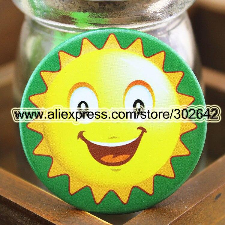 90 шт. улыбка солнце брошь значок милый Pin дети подарок командная игра сувенир сотрудника Услуги персонал орнамент сказать привет 41129