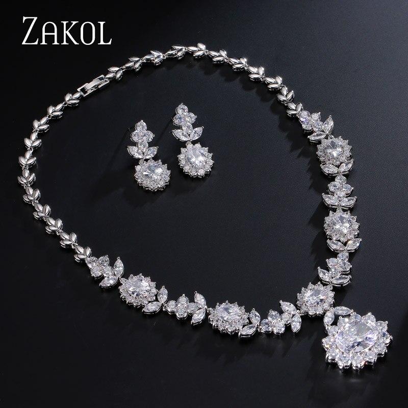ZAKOL Luxury Sliver Color մուգ կապույտ AAA - Նորաձև զարդեր - Լուսանկար 2