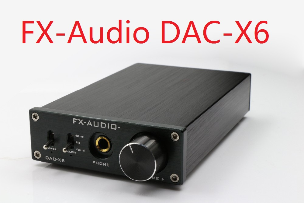 FX-AUDIO DAC-X6 HiFi 2.0 Digital Audio Decoder Input USB/Coaxial/Optical Output RCA/Headphone Amplifier 24Bit/192KHz DC12V adjustable bass treble two divider hifi module game pwm modulation digital amplifier for speaker audio crossover repair parts