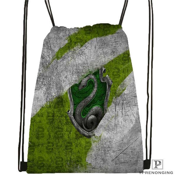 Custom Hufflepuff-harry-potter- Drawstring Backpack Bag Cute Daypack Kids Satchel (Black Back) 31x40cm#2018612-01-(12)