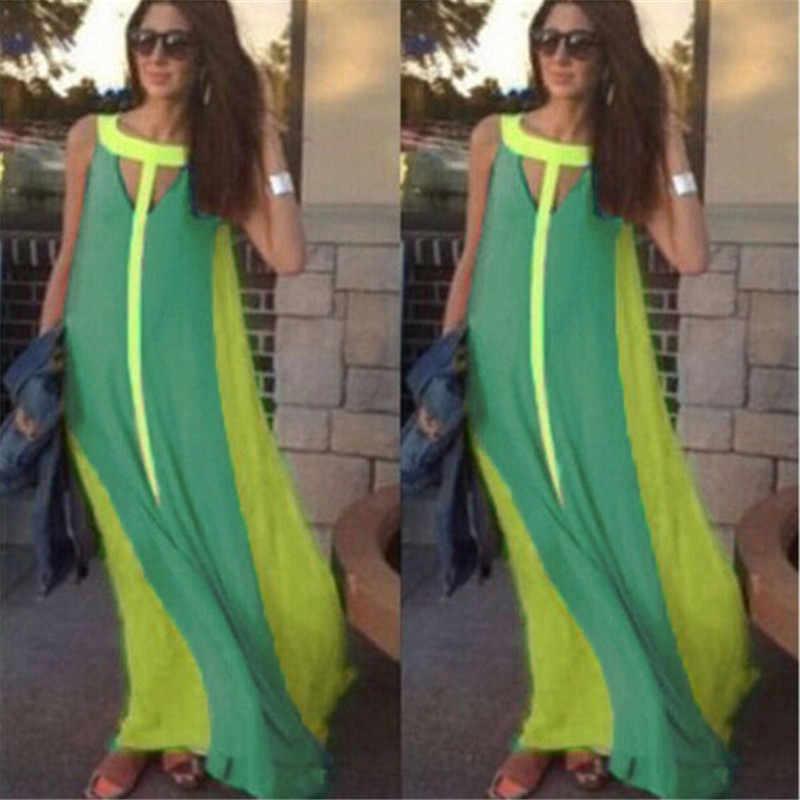 862861bea59 ... Summer Dress 2018 Beach Maxi Long Dresses Casual Women Clothes Ladies  Party O Neck Sleeveless Sexy ...