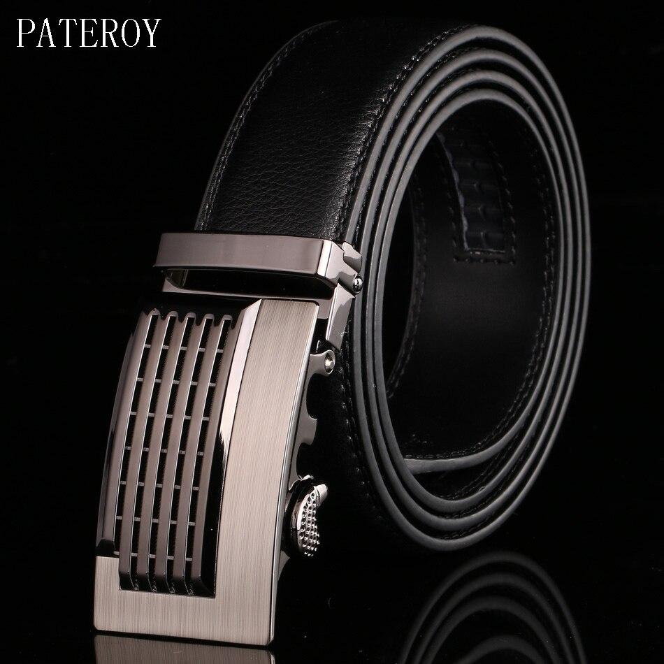 PATEROY cinturón de Hombre de marca de diseñador para hombres Cinturones de  cuero de vaca de cuero genuino Cinturones para hombres lujo automático  correa de ... e614f03c23b0