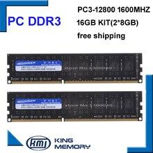 Kembona Vận Chuyển Miễn Phí DDR3 16GB 1600 MHz (Bộ 2,2X 8GB Dual Channel) PC3 12800 Full Tương Thích Với Tất Cả Các Bo Mạch Chủ Tản Nhiệt